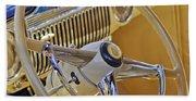 1947 Cadillac 62 Steering Wheel Beach Towel