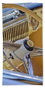 1947 Cadillac 62 Steering Wheel Beach Towel