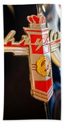 1947 Chrysler New Yorker Town And Country Convertible Emblem Beach Towel