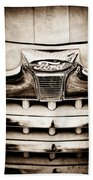 1947 Ford Deluxe Grille Grille Emblem Beach Towel