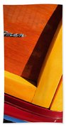 1947 Ford Super Deluxe Sportsman Convertible Taillight Emblem Beach Towel