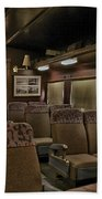 1947 Pullman Railroad Car Interior Seating Beach Towel