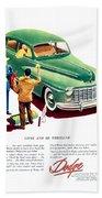 1948 - Dodge Automobile Advertisement - Color Beach Towel