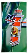 1948 Chrysler Town And Country Convertible Emblem -0974c Beach Towel