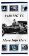 1948 Mg Tc Beach Towel