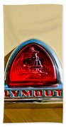 1948 Plymouth Deluxe Emblem Beach Towel