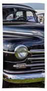 1948 Plymouth Special Deluxe Coupe  Beach Towel