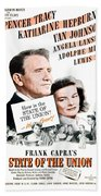 1948 - State Of The Union Motion Picture Poster - Spencer Tracy - Katherine Hepburn - Mgm - Color Beach Towel