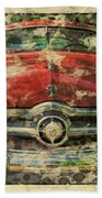 1949 Red Ford Coupe Beach Towel