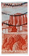 1949 Republique Francaise Stamp Beach Towel