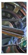 1950 Chrysler New Yorker Coupe Steering Wheel Emblem Beach Sheet