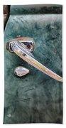 1950 Classic Chevy Pickup Door Handle Beach Towel by Adam Romanowicz