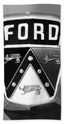 1950 Ford Custom Deluxe Station Wagon Emblem Beach Towel by Jill Reger