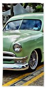 1950 Ford Deluxe Woody Station Wagon Beach Towel