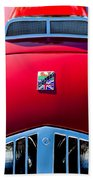 1950 Healey Silverston Sports Roadster Emblem Beach Towel