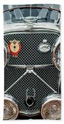 1950 Jaguar Xk120 Roadster Grille Beach Towel