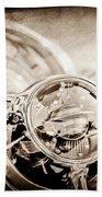 1950 Oldsmobile Rocket 88 Steering Wheel Emblem Beach Sheet