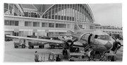 1950s 1960s Propeller Airplane Beach Sheet