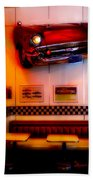 1950s American Diner - Featured In Vehicle Enthusiasts Beach Towel
