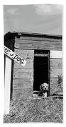 1950s Cocker Spaniel Puppy In Doghouse Beach Sheet