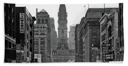 1950s Downtown Philadelphia Pa Usa Beach Towel