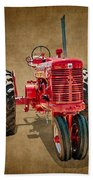 1950s Era International Harvester Tractor E108 Beach Towel by Wendell Franks