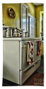 1950's Kitchen Stove Beach Towel