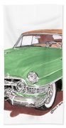 1951 Cadillac Series 62 Convertible Beach Towel