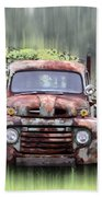 1951 Ford Truck - Found On Road Dead Beach Towel