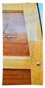 1951 Ford Woodie Country Squire Emblem Beach Towel