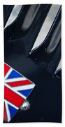 1951 Jaguar Proteus C-type British Emblem Beach Towel
