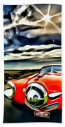 1951 Red Studebaker Beach Towel