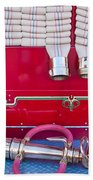 1952 L Model Mack Pumper Fire Truck Hoses Beach Towel