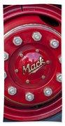 1952 L Model Mack Pumper Fire Truck Wheel Beach Towel