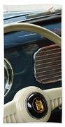 1952 Volkswagen Vw Bug Steering Wheel Beach Towel
