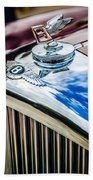 1953 Bentley R-type Hood Ornament - Emblem -0790c Beach Towel