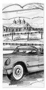 1953 Chevrolet Corvette Beach Towel