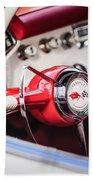 1953 Chevrolet Corvette Steering Wheel Emblem -1400c Beach Towel