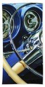 1953 Desoto Firedome Convertible Steering Wheel Emblem Beach Towel