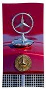 1953 Mercedes Benz Hood Ornament Beach Towel
