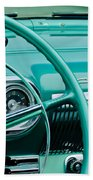 1954 Chevrolet Belair Steering Wheel 3 Beach Towel