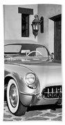 1954 Chevrolet Corvette -183bw Beach Towel