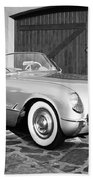 1954 Chevrolet Corvette -203bw Beach Towel