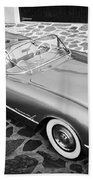 1954 Chevrolet Corvette -270bw Beach Towel