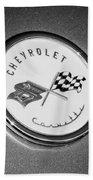 1954 Chevrolet Corvette Emblem -052bw Beach Towel