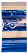1954 Chevrolet Corvette Steering Wheel -139c Beach Towel