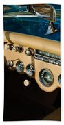 1954 Chevrolet Corvette Steering Wheel -502c Beach Towel