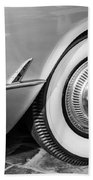 1954 Chevrolet Corvette Wheel Emblem -159bw Beach Towel