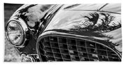 1954 Ferrari Europa 250 Gt Grille -1336bw Beach Towel