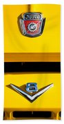 1954 Ford F-100 Custom Pickup Truck Emblems Beach Towel